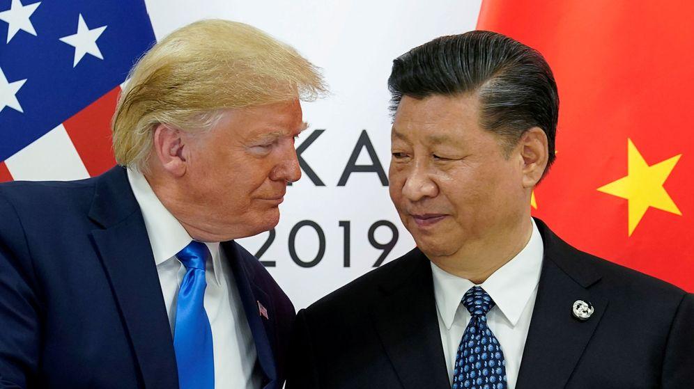 Foto: Foto de archivo de Trump y el presidente chino Xi Jinping. (Reuters)