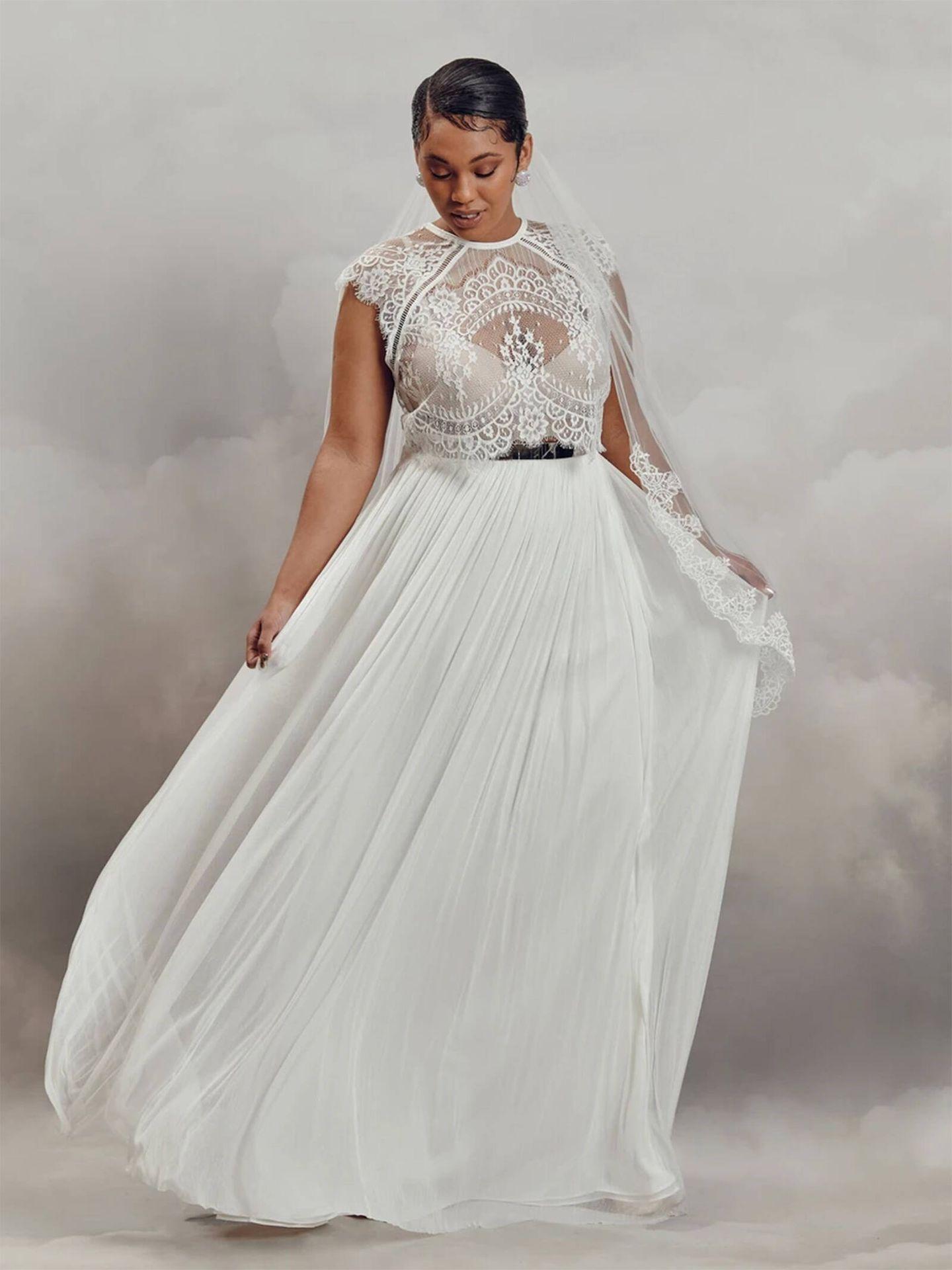 Uno de los espectaculares vestidos de novia de Catherine Deane. (Cortesía)