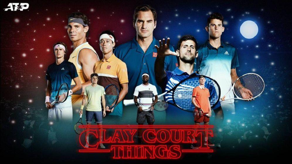 Foto: El cartel original de la discordia, con Federer destacado.