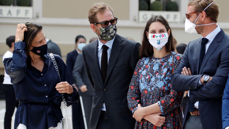 Estefanía de Mónaco, Andrea Casiraghi, Tatiana Santo Domingo y Pierre Casiraghi.  (Reuters)