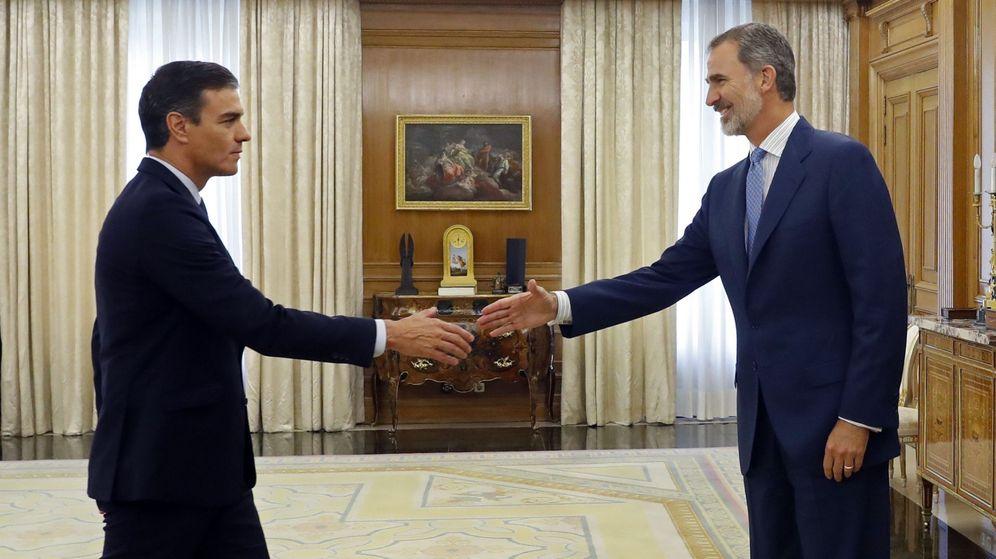 Foto: Felipe VI recibe a Pedro Sánchez en Moncloa el pasado septiembre. (EFE)