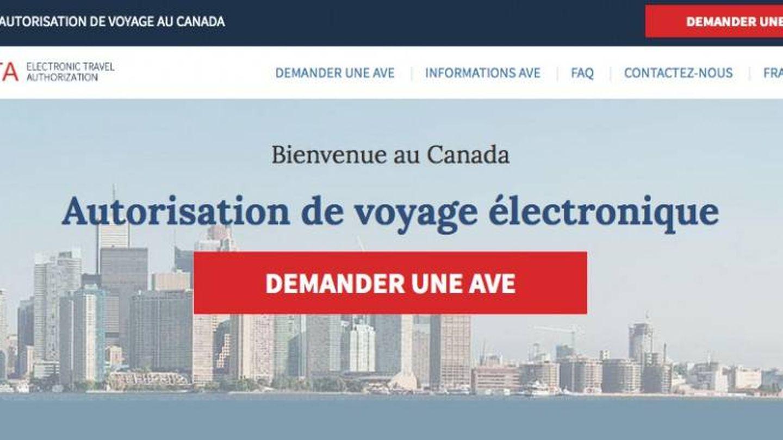 Imagen de la web Canadianeta-visa.com que ha sido dada de baja y que uso Puigdemont. ('La Presse')