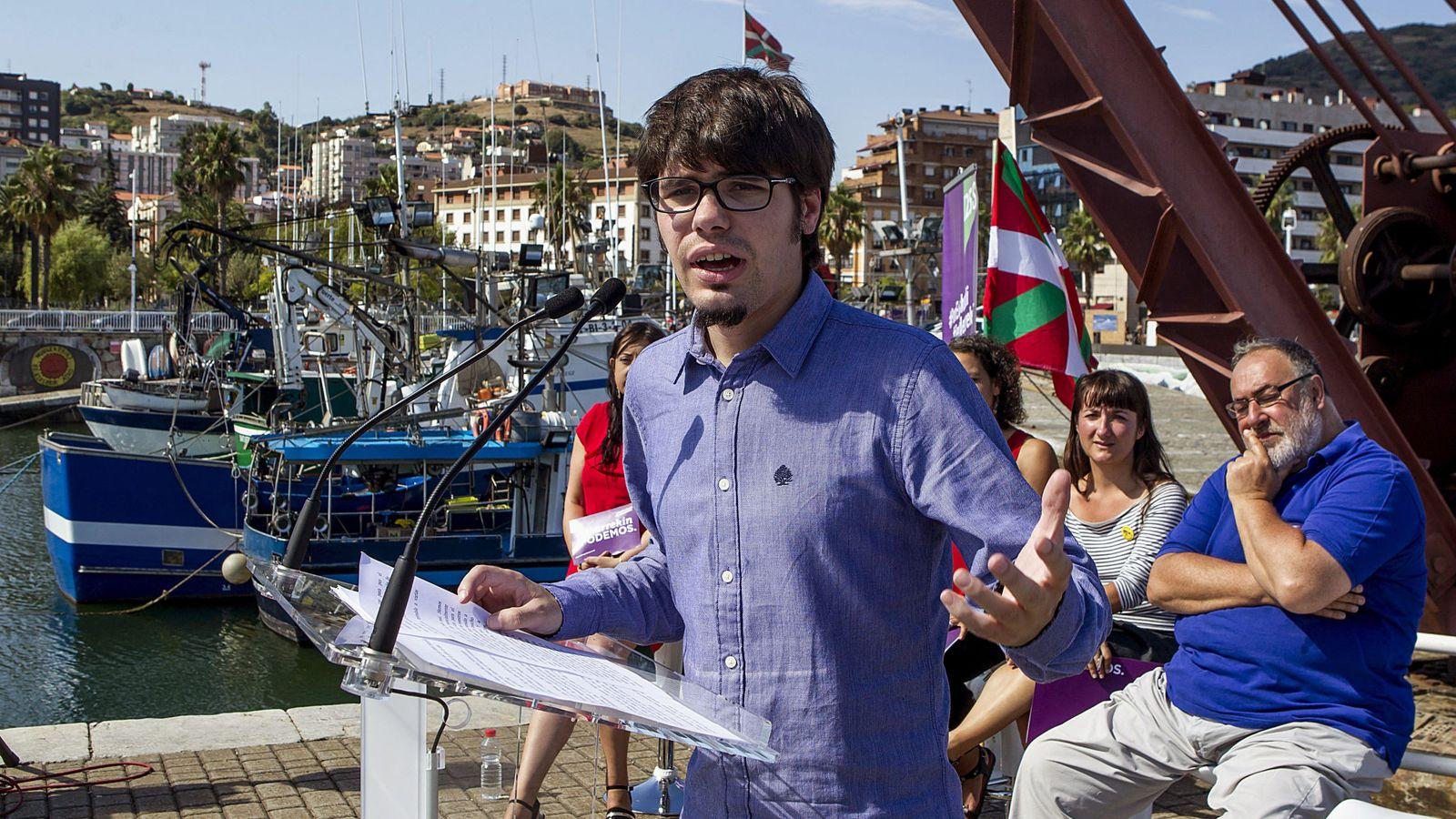 Foto: Lander Martínez, portavoz de Elkarrekin Podemos. (EFE)