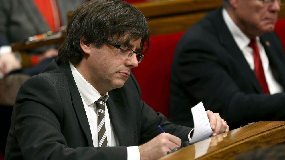 Foto: Carles Puigdemont, en el debate de investidura. (EFE)