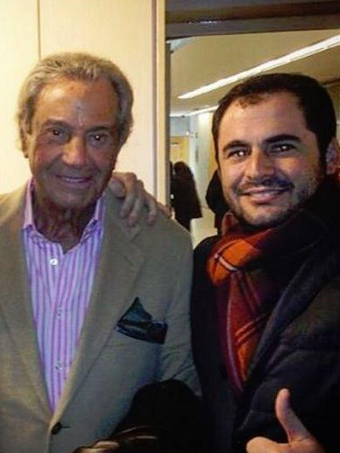 Junto a Arturo Fernández