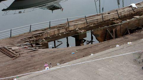 El accidente en el puerto de Vigo durante el festival 'O Marisquiño', en imágenes