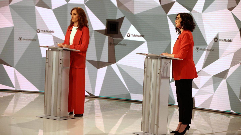 Mónica García e Isabel Díaz Ayuso. (EFE)
