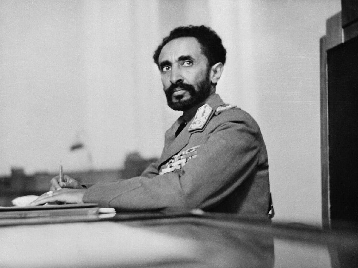 Foto: Haile Selassie, durante su discurso en la ciudad de México.