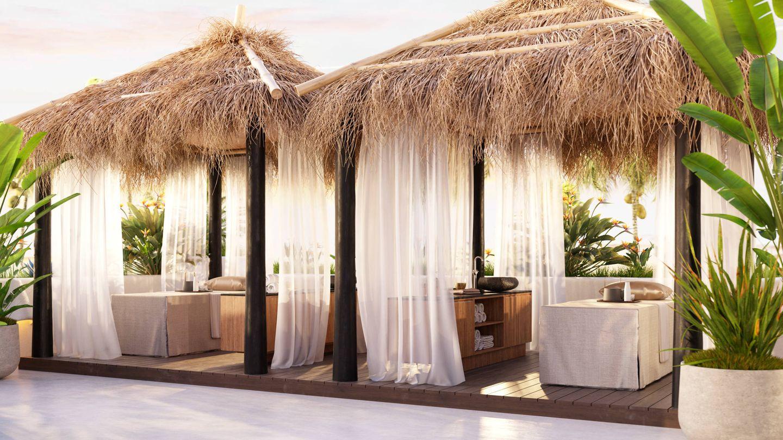 El hotel Jardín Tropical ofrece masajes al aire libre.