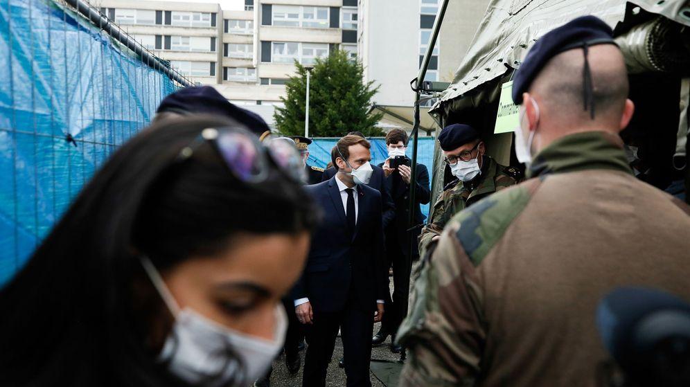 Foto: Macron, este miércoles, en Mulhouse. (EFE)