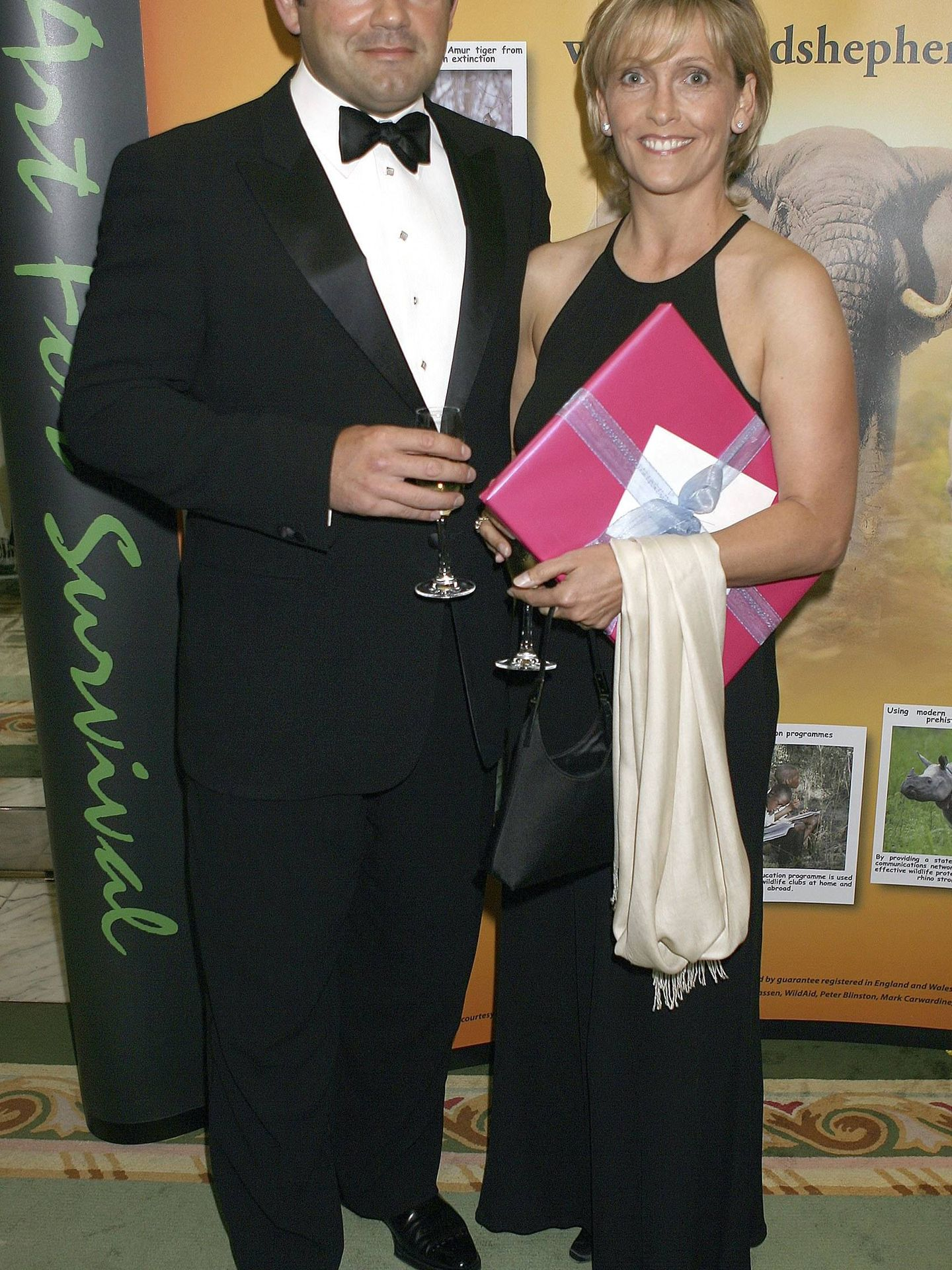 Carling, con su mujer, Lisa. (Getty)