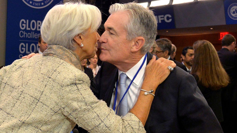 Christina Lagarde (BCE) y Jerome Powell (Fed). (Reuters)