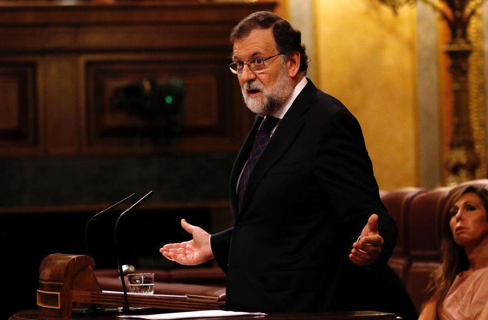 Foto: Mariano Rajoy, durante su comparecencia en el pleno de este miércoles en el Congreso. (Reuters)