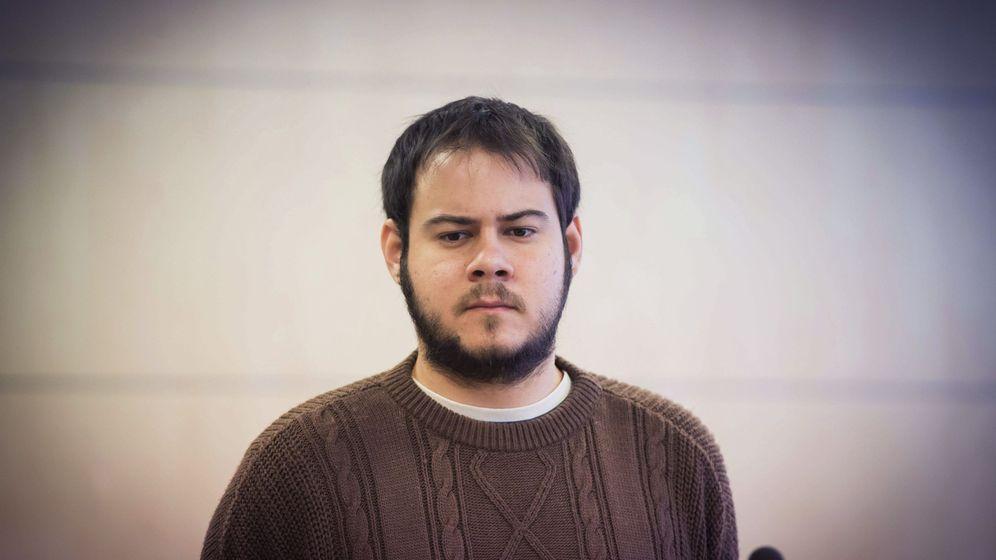 Foto: Pablo Hasél, en la Audiencia Nacional. (EFE)