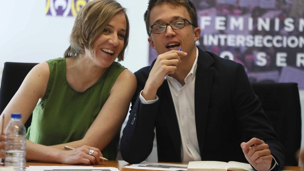 Foto: Tania Sánchez junto a Íñigo Errejón en una foto de archivo de 2018. (EFE)