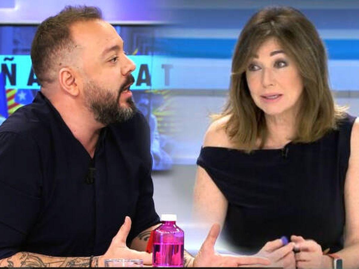 Foto: Antonio Maestre y Ana Rosa Quintana. (Telecinco)
