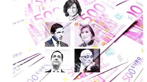 Los banqueros top congelan su sueldo pero se suben las pensiones hasta 141M