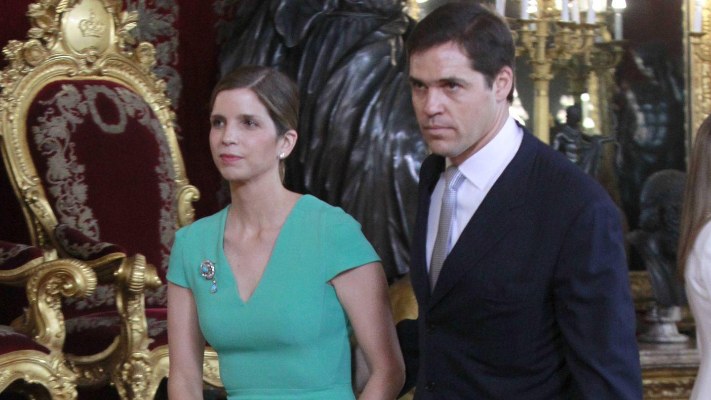Margarita Vargas con un broche heredado de la familia Franco. (Gtres)