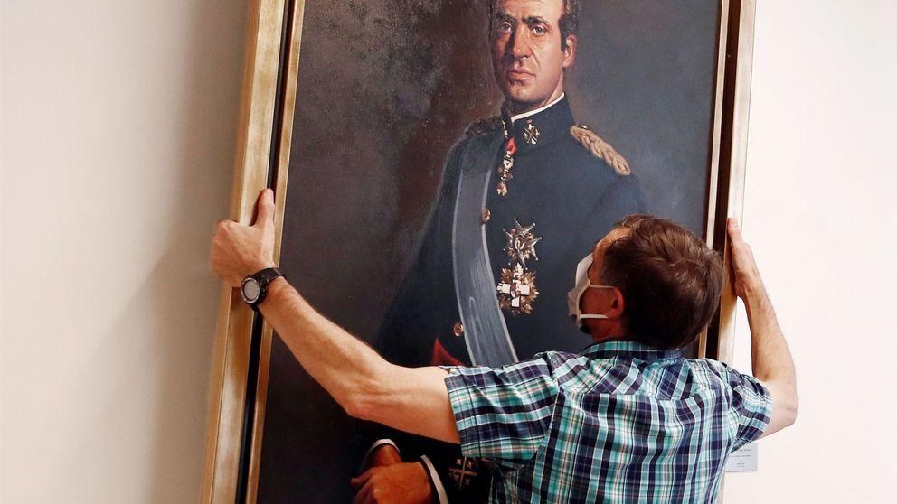 El Parlamento de Navarra retira el retrato del rey emérito con apoyo del PSOE