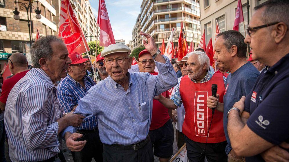 Foto: Manifestación de jubilados (Efe)