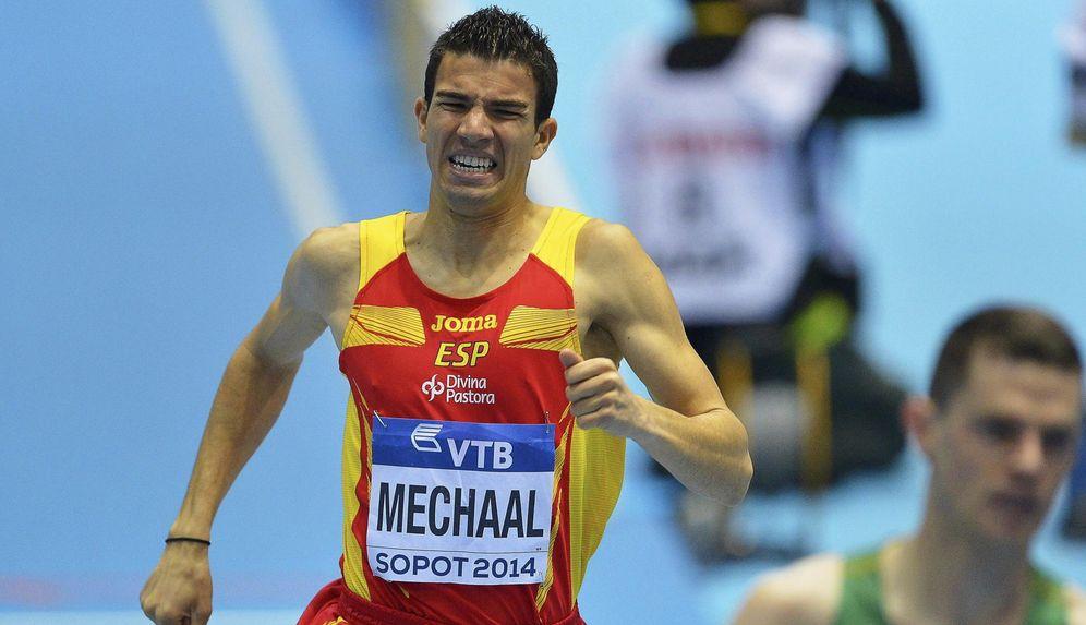 Foto: En la imagen, el atleta Adel Mechaal (EFE)