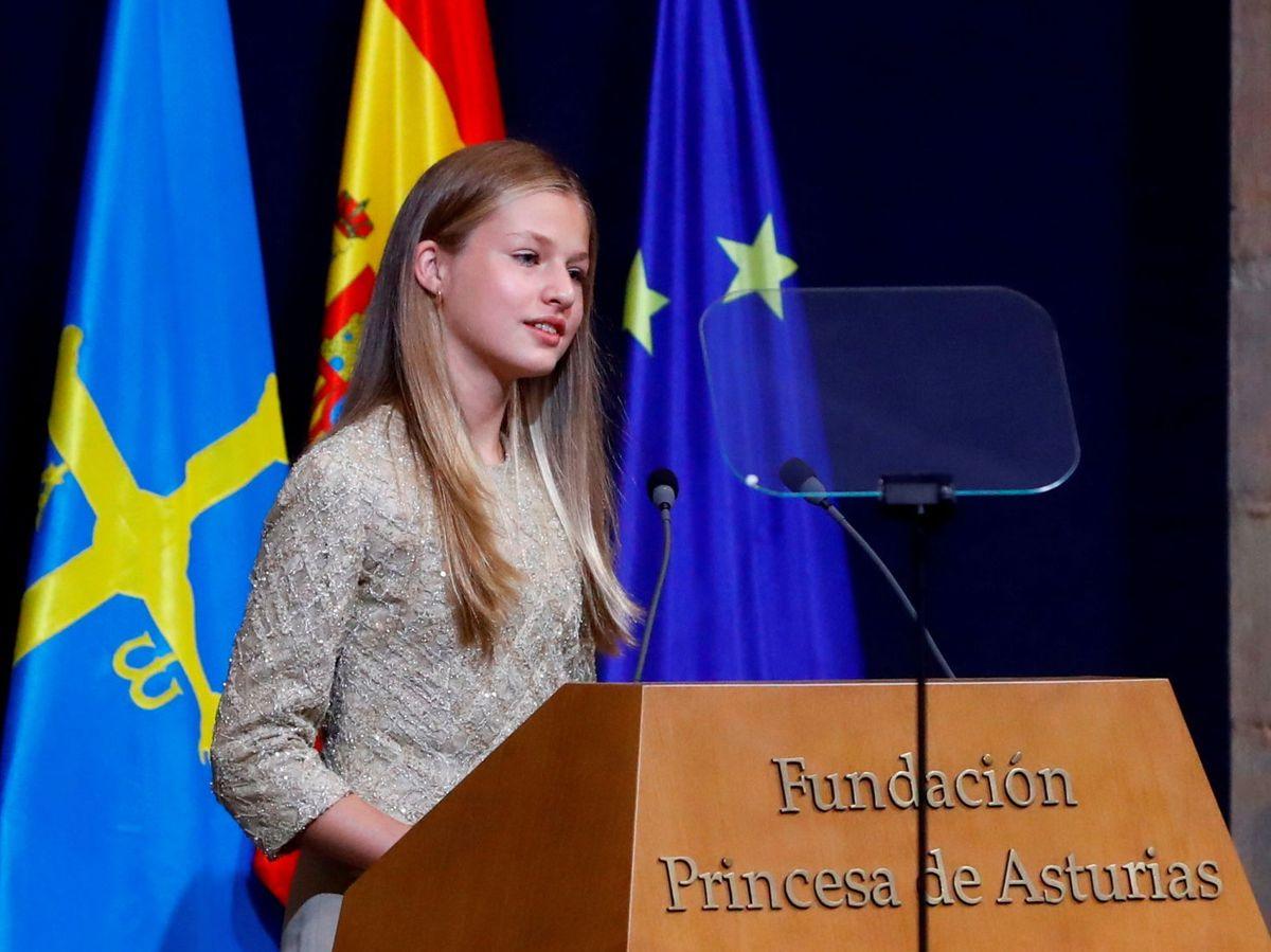 Foto: Leonor, en los Premios Princesa de Asturias. (Reuters)