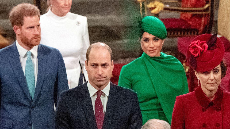 Los duques de Sussex y los duques de Cambridge, en su última aparición conjunta. (Reuters)
