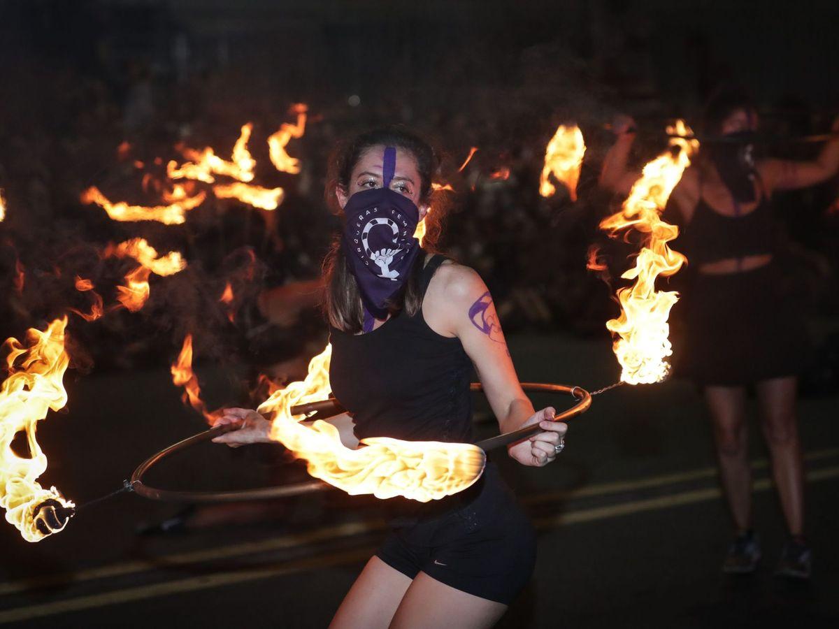 Foto: Manifestante en Uruguay el pasado 8 de marzo. (EFE)