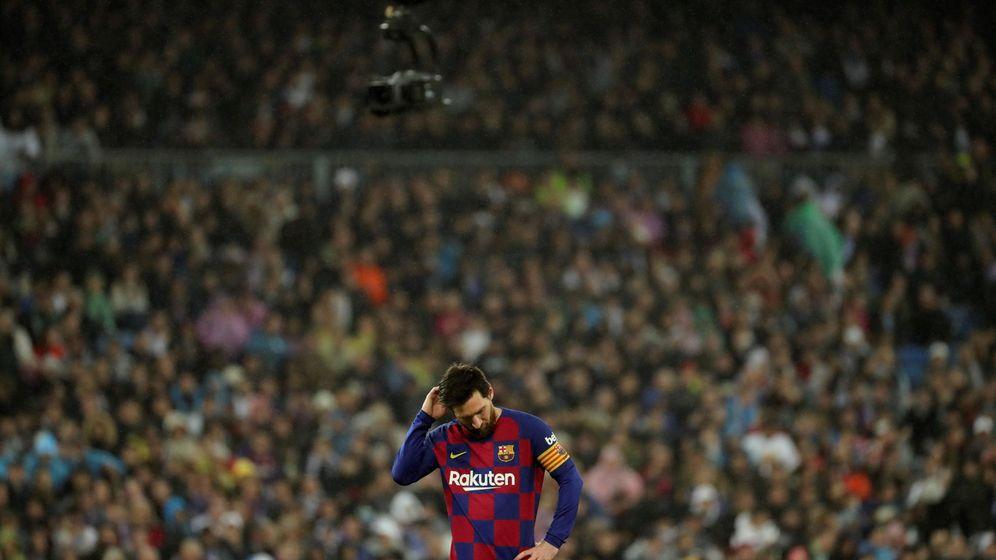 Foto: Leo Messi hace unas semanas en el Santiago Bernabéu. (EFE)