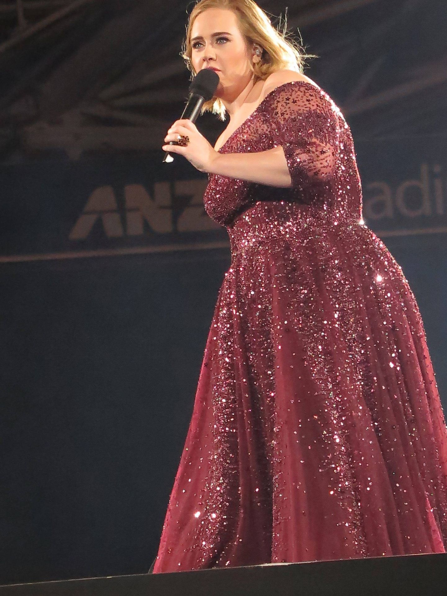 Adele, durante un concierto en Australia. (CP)