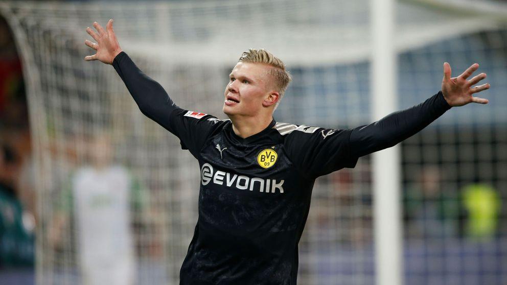 El 'hat-trick' en su debut con el Dortmund de Haaland, delantero de moda en Europa