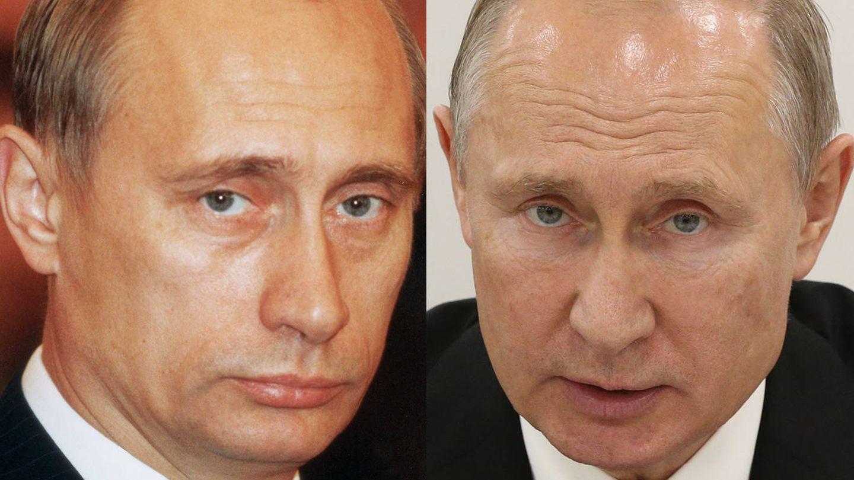 Putin hace la friolera de 20 años y ahora.  (Getty)