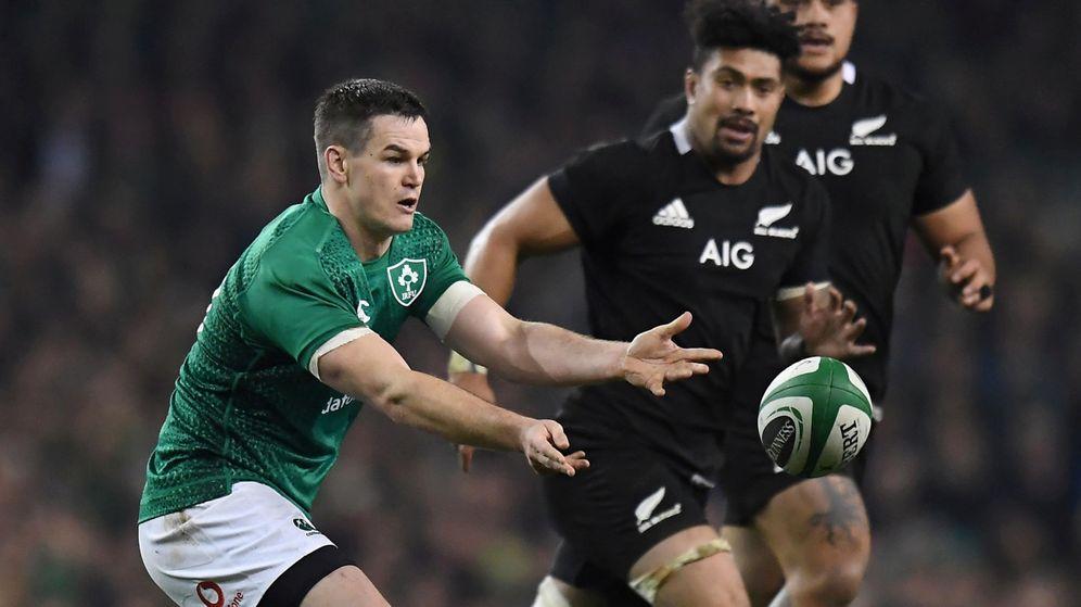 Foto: Irlanda y Nueva Zelanda, en un partido reciente. (Reuters)