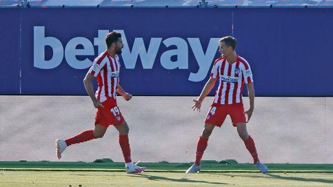 Marcos Llorente, tocado por una varita, pone al Atético de Madrid tercero (0-1)