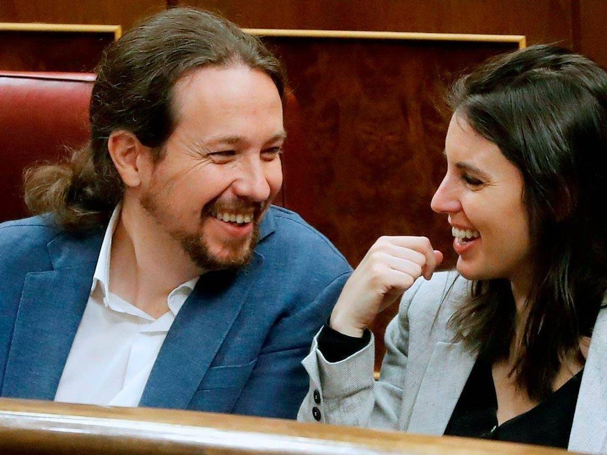 Foto: Pablo Iglesias e Irene Montero, en el Congreso. (EFE)
