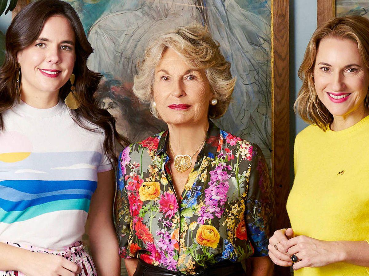 Foto: Daria Botín posa junto a su abuela Isabelle y su tía Christine D'Ornano. (Cortesía)