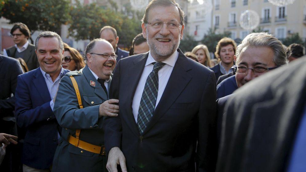 Foto: Mariano Rajoy durante el acto de campaña celebrado en Sevilla. (Reuters)