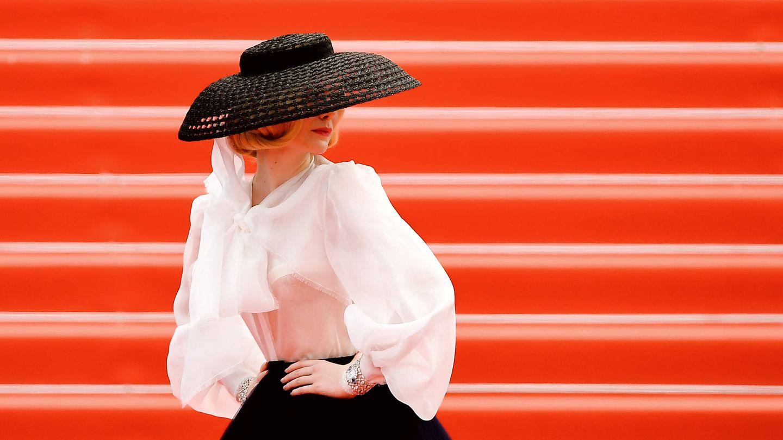 Elle, divina de Dior en Cannes. (Getty)