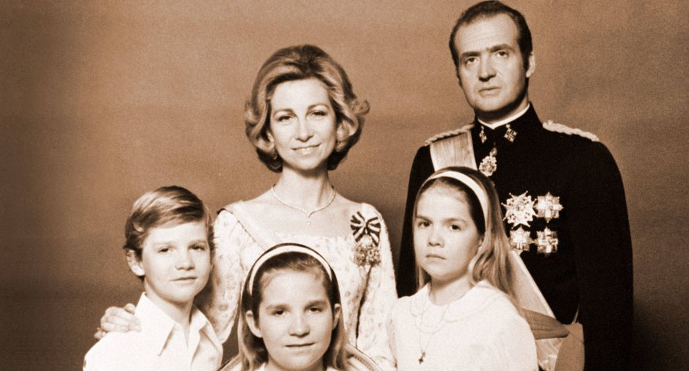 Foto: La familia real, en los años 70. (Getty)