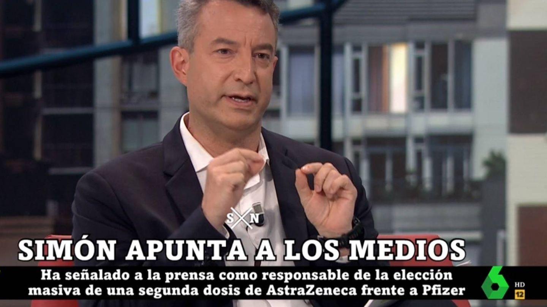 Carballo criticando a Simón. (La Sexta).