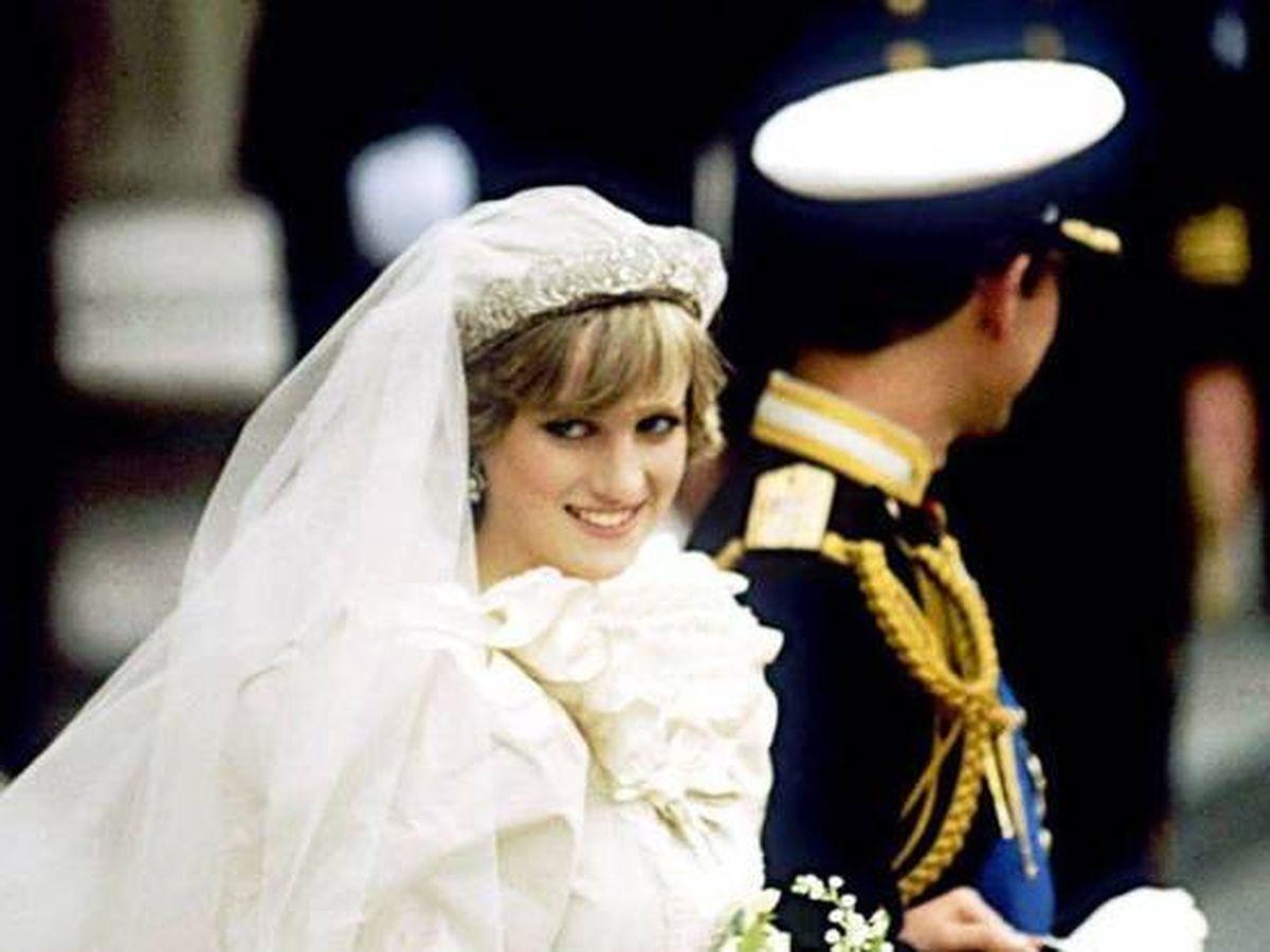 Foto:  Diana de Gales, el día de su boda. (Getty)