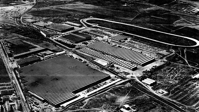 Vista aérea de la factoría de Barreiros Diésel en Villaverde, Madrid. (Fundación Eduardo Barreiros)