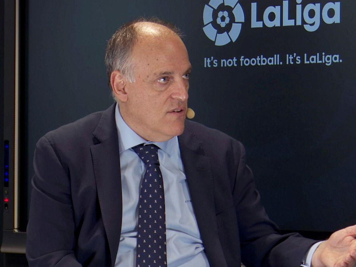 Foto: Javier Tebas, presidente de la Liga Nacional de Fútbol Profesional. (EFE)