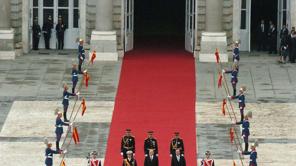 Foto: Vista de los invitados a la boda, en la alfombra roja. (Getty)