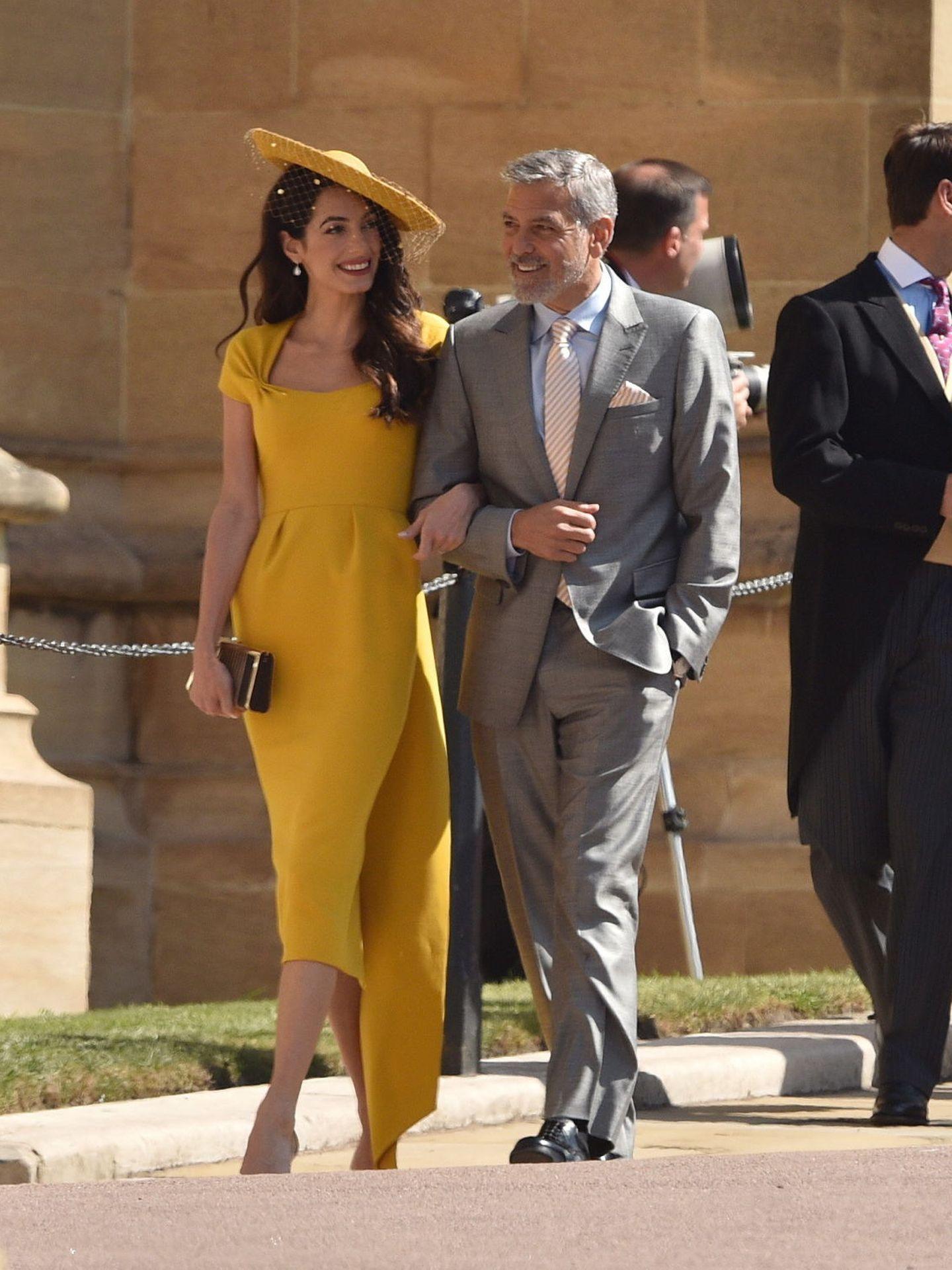 Amal y George en la boda de Harry y Meghan Markle en 2018. (EFE)