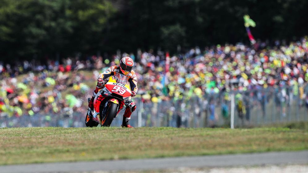 Foto: El piloto Marc Márquez en el Gran Premio de la República Checa. (Reuters)