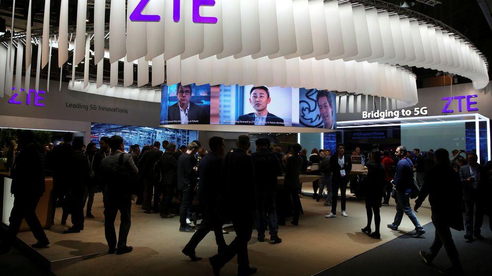 Foto: Stand de ZTE en el Mobile World Congress. (Reuters)