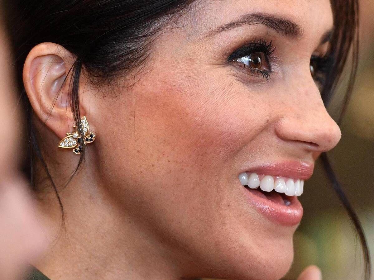 Foto: Detalle del maquillaje de Meghan Markle en su etapa en la Familia Real Británica. (Cordon Press)