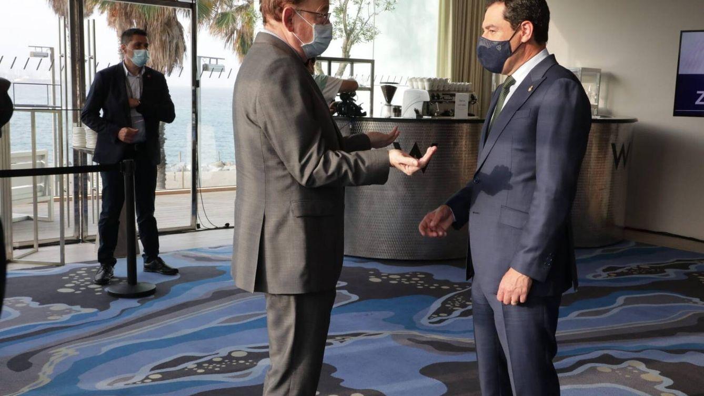 Moreno y Puig pactan su primera cumbre en Sevilla para presionar en la financiación