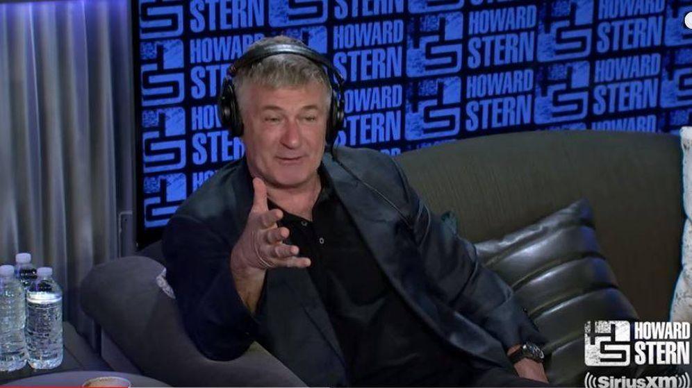 Foto: Baldwin en una entrevista en The Howard Stern Show.